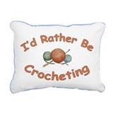 Crochet Rectangular Canvas Pillow