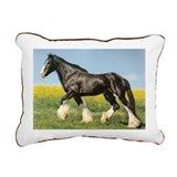 Shire Horse Rectangular Canvas Pillow