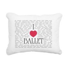 I Love Ballet Rectangular Canvas Pillow