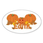 Halloween Pumpkin Edith Sticker (Oval)