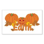Halloween Pumpkin Edith Sticker (Rectangle)
