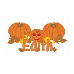 Halloween Pumpkin Edith 35x21 Wall Decal