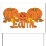 Halloween Pumpkin Edith Yard Sign