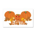 Halloween Pumpkin Edith Car Magnet 20 x 12