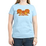 Halloween Pumpkin Elaine Women's Light T-Shirt