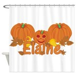 Halloween Pumpkin Elaine Shower Curtain