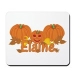 Halloween Pumpkin Elaine Mousepad
