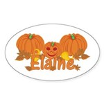 Halloween Pumpkin Elaine Sticker (Oval)