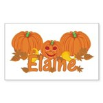 Halloween Pumpkin Elaine Sticker (Rectangle)