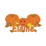 Halloween Pumpkin Elaine 35x21 Wall Decal