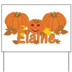 Halloween Pumpkin Elaine Yard Sign