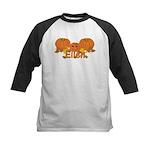 Halloween Pumpkin Ellen Kids Baseball Jersey