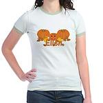 Halloween Pumpkin Ellen Jr. Ringer T-Shirt