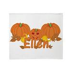 Halloween Pumpkin Ellen Throw Blanket