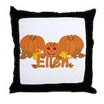 Halloween Pumpkin Ellen Throw Pillow