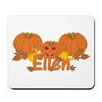 Halloween Pumpkin Ellen Mousepad