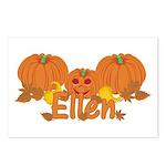 Halloween Pumpkin Ellen Postcards (Package of 8)