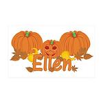 Halloween Pumpkin Ellen 35x21 Wall Decal