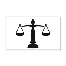 Funny Scales of justice Rectangle Car Magnet