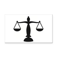 Cute Scales of justice Rectangle Car Magnet