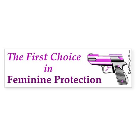 Feminine Protection Bumper Sticker