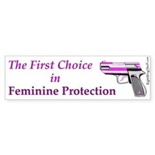 Feminine Protection Bumper Bumper Sticker