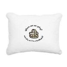 Handbasket Rectangular Canvas Pillow