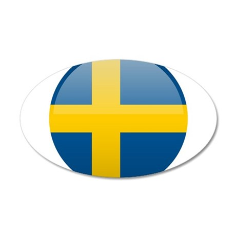 Swedish Button 20x12 Oval Wall Decal