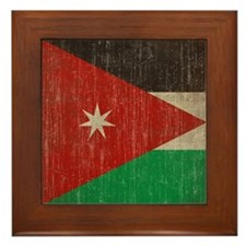 Vintage Jordan Flag Framed Tile