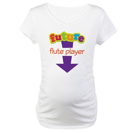 Future Flute Player Music Maternity T-Shirt
