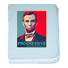 Abe Lincoln - PROGRESSIVE baby blanket
