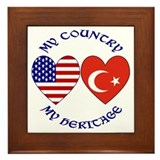 Turkey Country Heritage Framed Tile