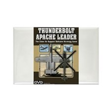 Thunderbolt-Apache box front Rectangle Magnet