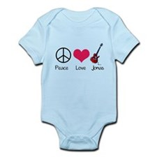 Cute Peace love rock and roll Infant Bodysuit