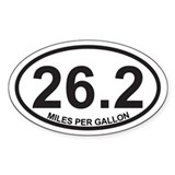 26.2 Miles Per Gallon Decal