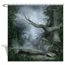 Rainy Forest Shower Curtain