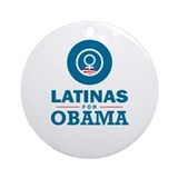 Latinas for Obama Ornament (Round)