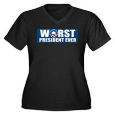 Worst President Ever Women's Plus Size V-Neck Dark