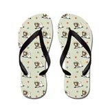 Lhasa Apso Stars Paws Stone Flip Flops