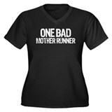 one bad mother runner Women's Plus Size V-Neck Dar