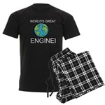 Worlds Greatest Engineer Men's Dark Pajamas