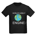 Worlds Greatest Engineer Kids Dark T-Shirt