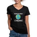 Worlds Greatest Engineer Women's V-Neck Dark T-Shi