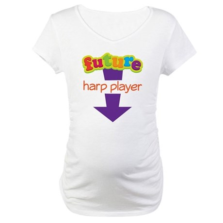 Cute Future Harp Player Maternity T-Shirt