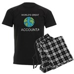 Worlds Greatest Accountant Men's Dark Pajamas