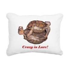 Crazy in Love Box Turtles Rectangular Canvas Pillo