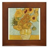Van Gogh Sunflowers for Amy Framed Tile