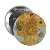 "Van Gogh Sunflowers for Amy 2.25"" Button"