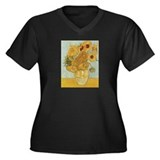 Van Gogh Sunflowers for Amy Women's Plus Size V-Ne