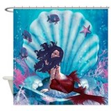 Mermaid in Shell Shower Curtain